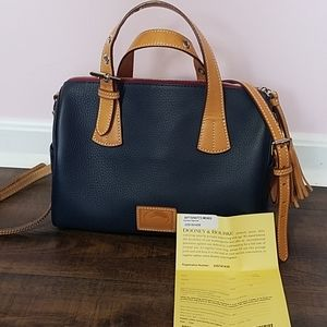 Dooney and Bourke Kendra Satchel Midnight Blue